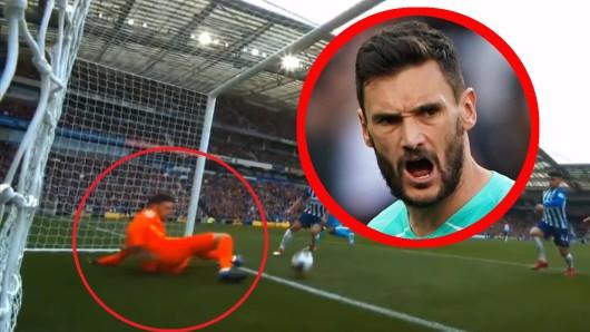 Hugo Lloris: Der Torwart von Tottenham Hotspur verletzte sich im Ligaspiel in Brighton schwer.