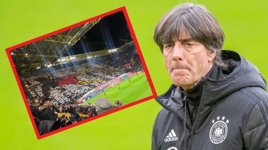 Vor dem Länderspiel zwischen Deutschland und Argentinien gab es eine eigenwillige Choreo.