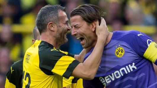 Alex Frei und Roman Weidenfeller spielten Jahre lang Seite an Seite bei Borussia Dortmund.
