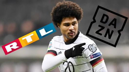 Das Länderspiel zwischen Deutschland und Nordirland lief am Dienstagabend bei RTL - und kurze Zeit auch bei DAZN.