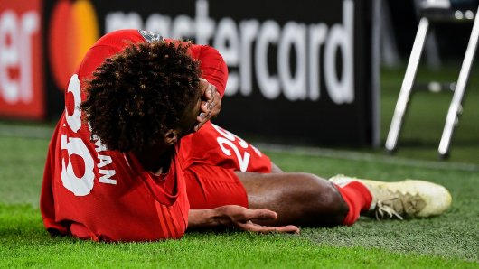 Kingsley Coman verletzte sich im Spiel des FC Bayern München gegen Tottenham Hotspur in der Champions League.