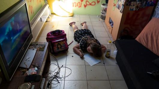 Dieses Foto eines Mädchens aus Mülheim soll zum Nachdenken und vor allem zum Handeln anregen.
