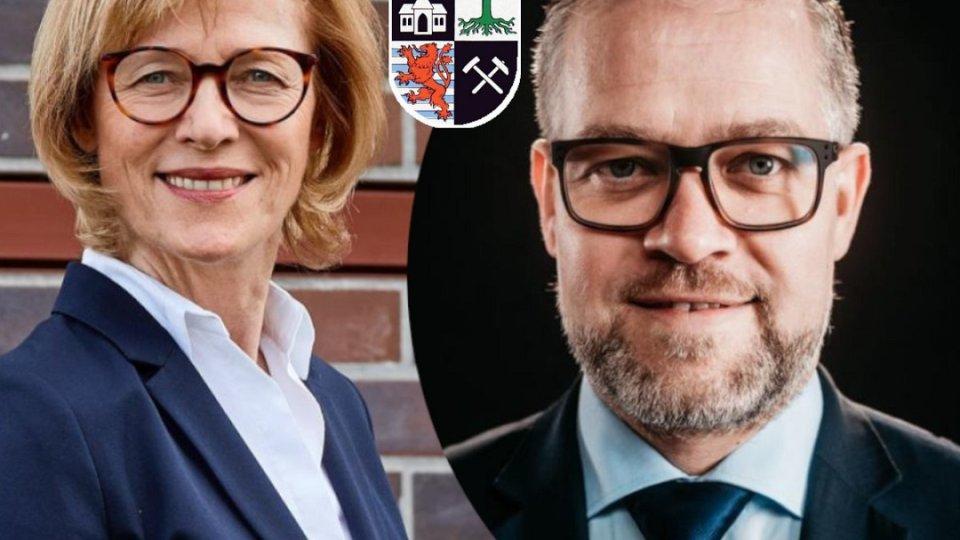 Stichwahl in Gelsenkirchen: Karin Welge (SPD) und Malte Stuckmann (CDU) treten an.