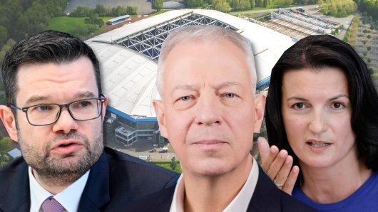 Die aktuellen Bundestagsabgeordneten aus Gelsenkirchen, mit Wahlkreisgewinner Markus Töns (Mitte), daneben Irene Mihalic und Dr. Marco Buschmann.