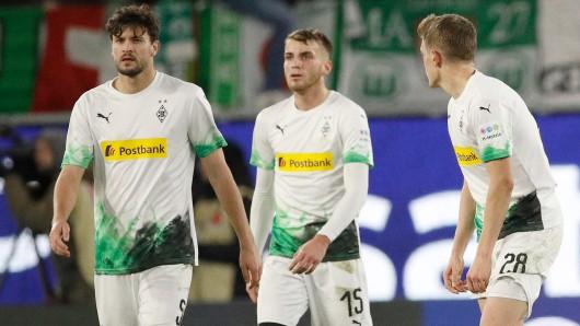 Louis Jordan Beyer (Mitte) ist bereits aus Mönchengladbach abgereist.