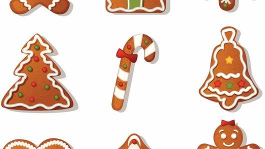 Gingerbread cookies, Plätzchen, Kekse