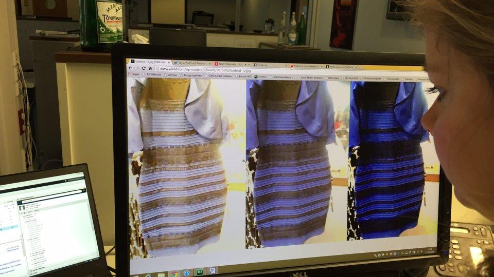 Blaues kleid erklarung