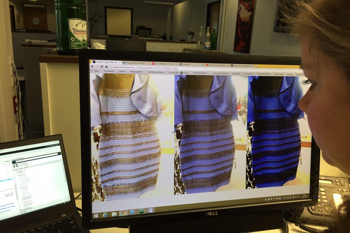 warum die farbe eines kleides für mega-streit im netz sorgt