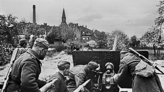 Deutsche Soldaten kurz vor Kriegsende.
