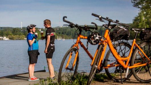 Essen - Fahrradserie - Ruhrtalradweg - Pause am Baldeneysee