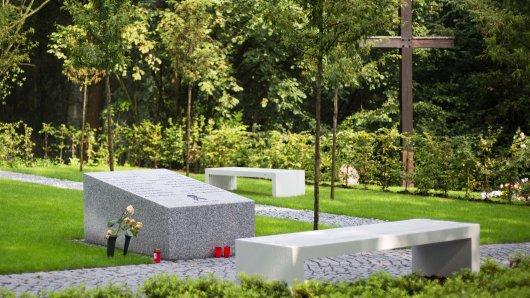 Die Gedenkstätte für die Opfer der Flugkatastrophe in Haltern am See. Foto: dpa