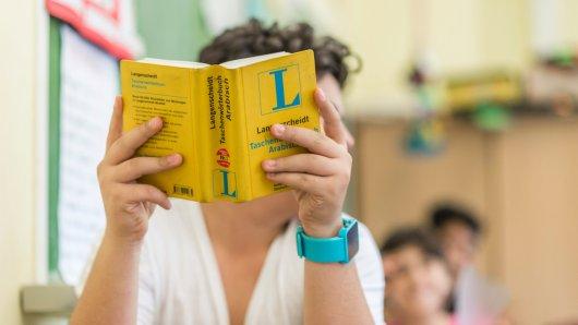 Deutschunterricht mit Wörterbuch: In Auffangklassen wie hier an der Hauptschule Remberg werden Kinder aus Zuwandererfamilien in den Schulalltag integriert.