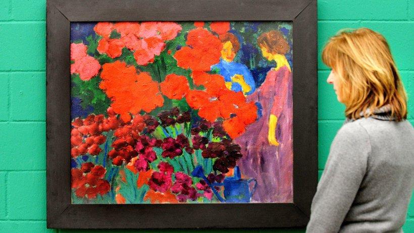 Bilder Blumengarten noldes gemälde frauen im blumengarten wird restituiert duisburg