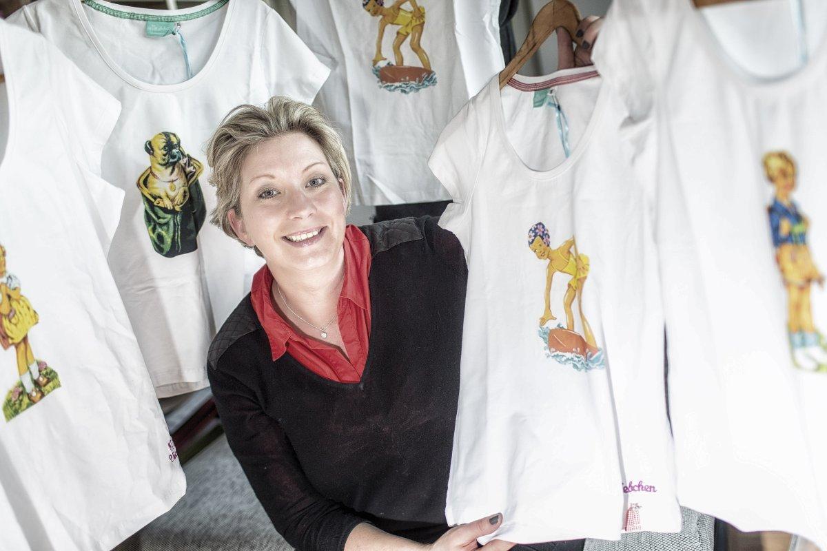 Essener entwerfen T Shirts wie aus dem Poesiealbum