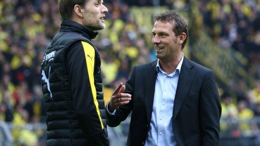 Sehen sich Ende Oktober: BVB-Trainer Thomas Tuchel (l.) und der neue Schalke-Coach Markus Weinzierl.