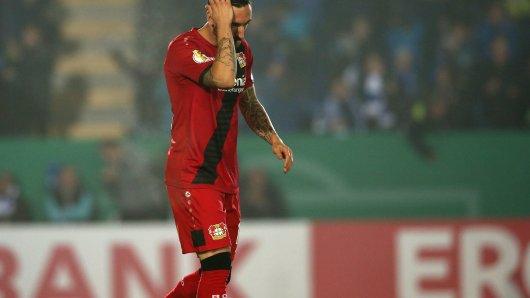 Enttäuschung pur: Bayer Leverkusen scheiterte im DFB-Pokal bereits in der zweiten Runde.