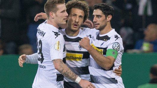 Torschützen für die Borussia: Lars Stindl (r.) und Fabian Johnson (Mitte).