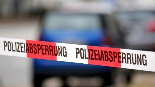 Absperrungsband der Polizei.