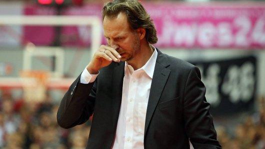 16 01 2016 xovx Basketball BBL Basketball BBL Giessen 46ers Phoenix Hagen emspor Headcoach In