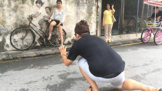 Straßenkunst in Malaysia ist der neue Trend.