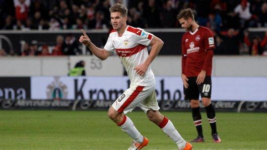 Zweifacher Torschütze für den VfB Stuttgart: Simon Terodde.