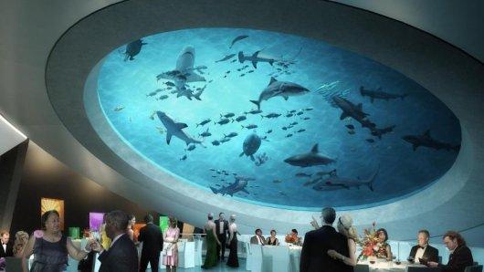 Riesiges Aquarium:So soll das neue Patricia and Phillip Frost Science Museum im Miami von innen aussehen.