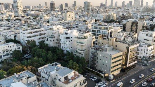 Die Weiße Stadt in Tel Aviv umfasst rund 4000 Gebäude imBauhaus-Stil - sie zählt zum Unesco-Welterbe.