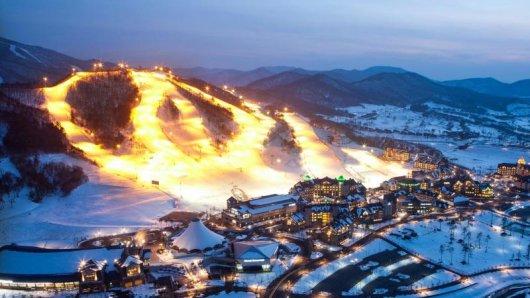 Das Alpensia Ski Resort liegt im südkoreanischen Pyeongchang - dort finden einige Wettkämpfe der Olympischen Winterspiele 2018 statt.