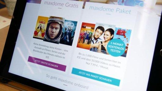 Bahnreisende im ICE haben nun Zugriff auf das neue Unterhaltungsangebot maxdome onboard. Dabei stehen 50 Medieninhalte wie Videos oder Spiele kostenlos zur Verfügung.