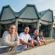 Zusammen mit Theodorus Kudios planen diese Freunde einen Unverpackt-Laden auf dem RUB-Campus eröffnen: (v.li.) Davin und Dustin Lehmann, Steven Braun und Stefan Holewa.