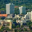 Fernaufnahme der Innenstadt von Gelsenkirchen. (Symbolbild)
