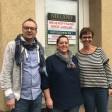 An der Ückendorfer Straße 125 eröffnet bald ein Laden der Bäckerei Nieland. Von links: Frank Nieland, Manuela Fernandes und Kerstin Nieland.
