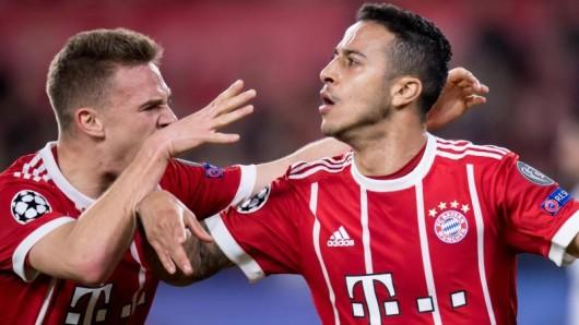 Thiago war mit seinem Treffer zum 2:1 der Matchwinner für den FC Bayern.