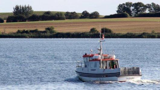 Nach ganz eigenem Fahrplan: Das Fährboot Lillebjørn verkehrt zwischen Faaborg und der Insel Bjørnø.