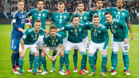 Könnte das die Startformation im WM-Auftakt in Russland sein? Zumindest hinter Jérôme Boateng steht noch ein Fragezeichen.