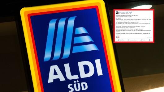 Ein Kunde hat dem Discounter Aldi Süd bei Facebook schwere Vorwürfe gemacht.