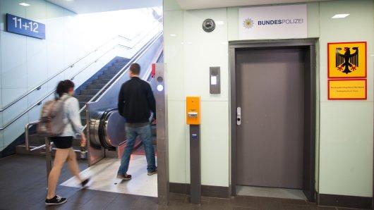 Der Eingang zur Wache der Bundespolizei am Essener Hauptbahnhof. (Archivbild)