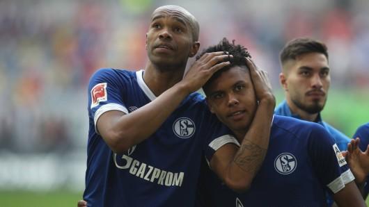 Nach dem Sieg bei Fortuna Düsseldorf herrscht pure Erleichterung bei Naldo und Weston McKennie vom FC Schalke 04.