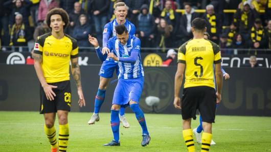 Selke holt den Elfmeter raus. Kalou verwandelt zum 2:2 für Hertha BSC gegen Borussia Dortmund.