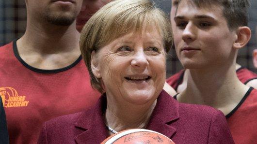 Angela Merkel ist in Chemnitz zu Gast.