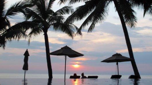 An den Küsten Thailands, hier Koh Chang, beträgt die Wassertemperatur zurzeit etwa 29 Grad.