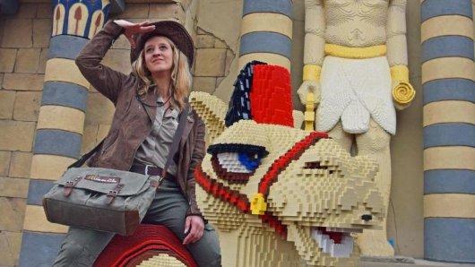 Ein Kamel aus vielen Lego-Steinen: In der Saison 2019 gibt es im Legoland Deutschland einen neuen Themenbereich, der sich um Pharaonen und das alte Ägypten dreht.