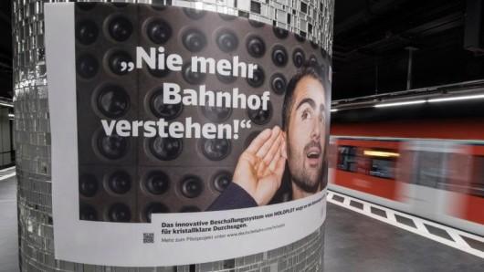 Mit dem neuen Lautsprecher-System Holoplot will die Bahn die Qualität der Durchsagen auf Bahnhöfen verbessern.