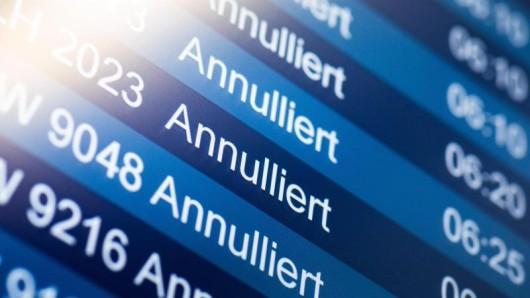 Auf Grund des Warnstreiks wurden in Düsseldorf 56 Starts und Landungen gestrichen.