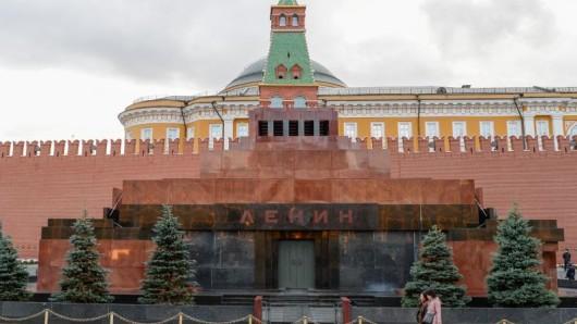 Das Lenin-Mausoleum in Moskau bleibt bis 16. April wegen Erhaltungsarbeiten geschlossen.
