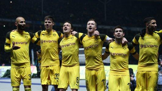 Der BVB hatte nach dem Last-Minute-Sieg allen Grund zum Jubeln.