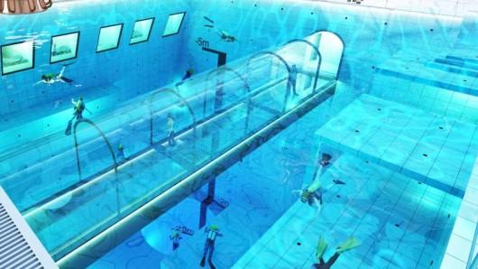 In Mszczonow, 50 Kilometer südwestlich von Warschau, entsteht ein Mega-Becken mit 45 Meter Tiefe.