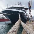 Expeditionsschiff für 200 Gäste: Die World Explorer in der portugiesischen Westsea Yard.