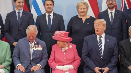 Donald Trump zusammen mit der Queen und Prince Charles.