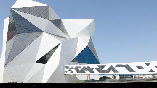 Ein Ufo? Nein, ein neuer Abenteuerpark: Im CLYMB in Abu Dhabi können Besucher klettern oder im Windkanal schweben.